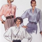 Vogue 7645 Blouse Sewing Pattern Easy Loose Fitting with draped Neckline Size 8