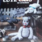 Cat Crochet Pattern Cute Cats Leisure Arts 1105 by Sue Penrod Crocheted Cat Kitten Kitties