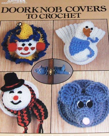 Crochet Pattern Door knob Covers Christmas Wreath Easter Bunny Turkey Clown Snowman