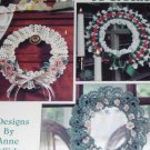 Crochet Pattern Lovely Wreaths to Crochet Anne Halliday Leisure Arts 2567 Dainty Floral Wreaths