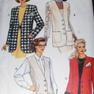 Butterick 6492 Sewing Pattern Misses or  Misses Petite Hip Length Vest Jacket Size 6 8 10