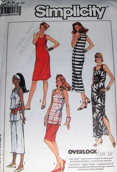 Simplicity Sewing Pattern 8159 Misses Summer Dress Top Skirt Stretch Knits Size 8 to14