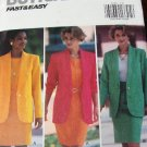 Business Suit Top, Jacket ,Skirt  Easy Sewing Pattern size 6 8 10 Butterick number 6161