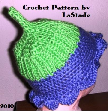 Flower Power Pixie Hat Crochet Pattern For Baby size 6-12 months Easy to Crochet LaStade-Designs