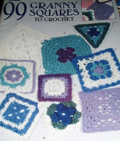 Granny Square Crochet Pattern  99 Granny Squares to Crochet Leisure Arts