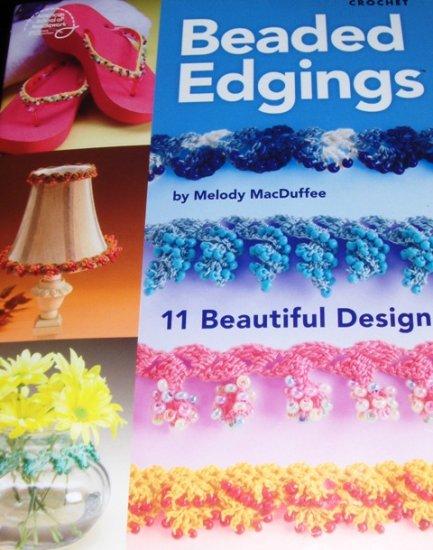 Crochet Pattern Beaded Edgings 11 Designs to Crochet American School of Needlework