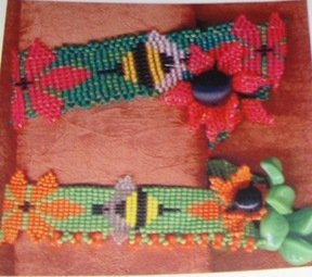 Loom Bead Jewelry Pattern Over the Edge Frog, Flower, Angel Patterns
