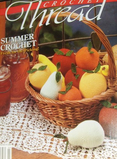 Fruit Crochet Thread Pattern Magazine Issue 5 , Doilies, Pincushion, Pillow