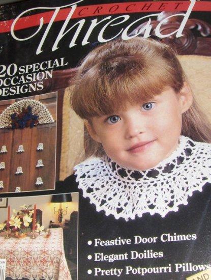 Crochet Thread Magazine Issue 2 Crocheted Basket, Filet crochet doily, baby gifts
