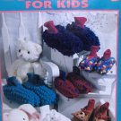 Slipper Socks for Children Kids to Crochet by Sue Penrod, bunny, bear, LOOP Stitch