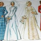 70's Wedding Dress Evening Gown Pattern Simplicity 5313 Size 14 Bust 36""