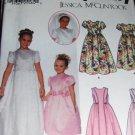 Flower Girl Jr. Bridesmaid Dress Communion Veil Sewing Pattern Simplicity  7066 Size 3 4 5 6