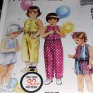 Toddler's Top Pants Short and Bloomers Sewing Pattern McCall's 4205 Size 1
