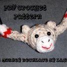 Sock Monkey Necklace PDF Crochet Pattern Instructions by LaStade