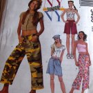 Teen Girls Top, Shorts and Capri Pants plus Hat and Headscarf McCall's 3490 Size 11 1/2 to 17/18