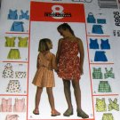 Girl's Summer wardrobe shorts tops skorts 8 great looks McCall's 9369 Size 10 12 14