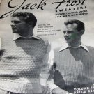 Men's Sweater, Scarves, Vest ,Cardigans Patterns 1947 Jack Frost Vintage Knitting Pattern