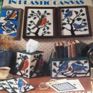 Plastic Canvas Robins Bluebirds tissue cover, magnets, coasters, bookends pattern