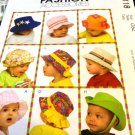 Baby Hats McCall's M5118 xsmall 18 inch to xlarge 20 inch sizes Sewing Pattern