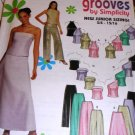 Sewing Pattern Prom Evening Pants Tops Skirts Size 3/4 to 9/10 Simplicity 9775