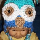 Owl Hat with ear flaps PDF Crochet Pattern Instructions Baby size 6 month to 1 year size LaStade