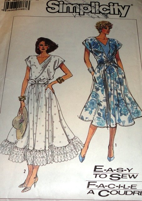 Easy Summer Dress Sewing Pattern Simplicity 7941 Size 6-12