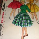 Girl's One Piece Dress with Gathered Princess Skirt Simplicity 1253 Sewing Pattern
