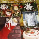 Christmas Thread Crochet Patterns Leisure Arts 2941 Angel tree topper, snowflakes, tablecloth