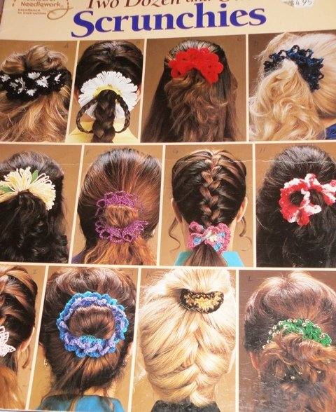Crochet Hair Scrunchies Two Dozen and One American School of Needlework