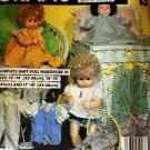 McCall's 8872 Doll Clothes Wardrobe Sewing Pattern for baby dolls in three sizes small medium large
