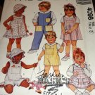 Child's Hat Jumper Sundress Overalls Shortalls Shirt  Bunny toy Sewing Pattern McCall's 4098 Size 1