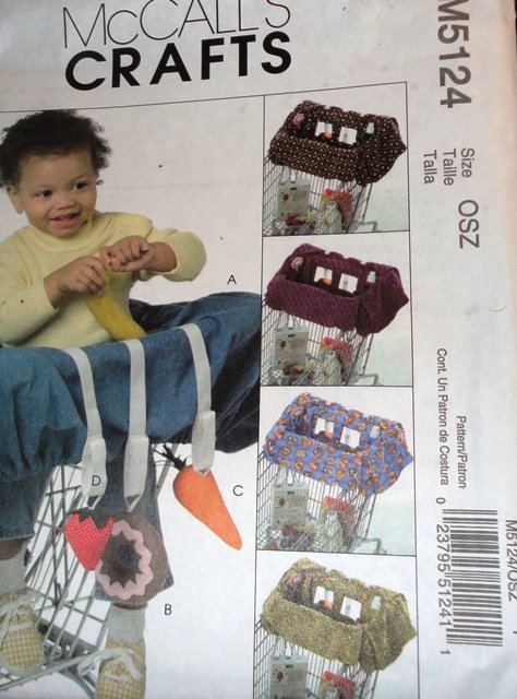 McCall's 5124 Sewing Pattern Grocery Cart Liner for babies with Toys
