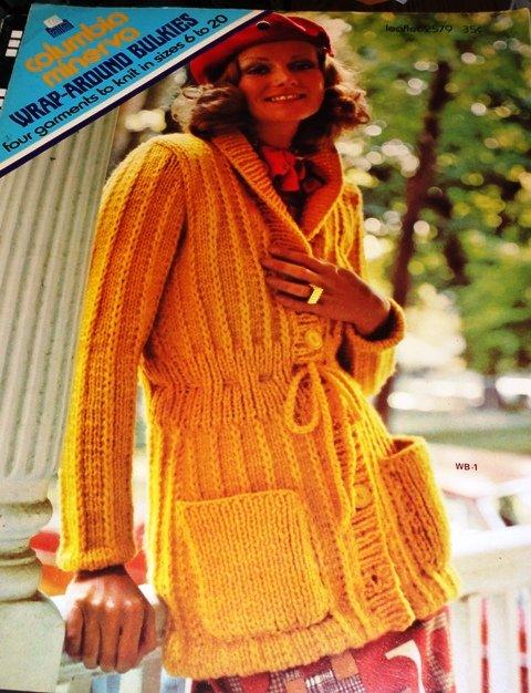Wrap-Around Bulkies Cardigans and Coats Columbia Minerva Sweater Pattern