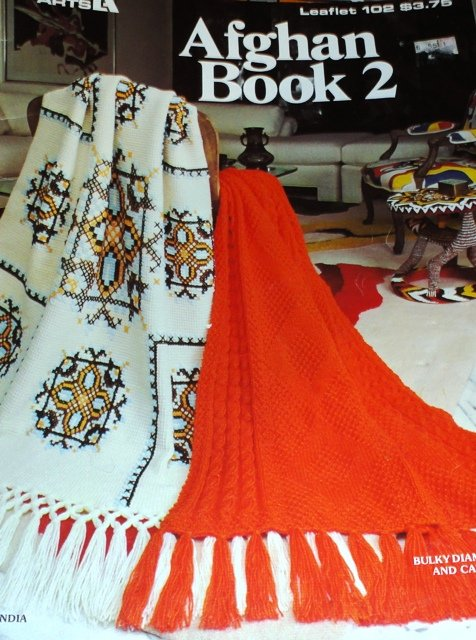 Afghan Book 2 Leisure Arts Crochet Knitting Patterns Leaflet 102