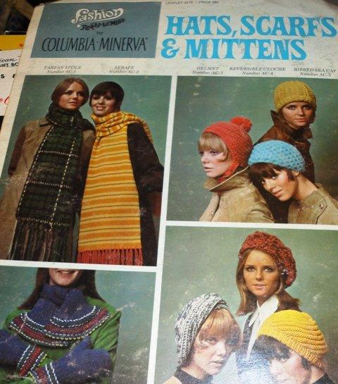 Hats Mittens Scarfs Knitting Crochet Pattern  Columbia Minerva  2515 Fashion Ready to Make