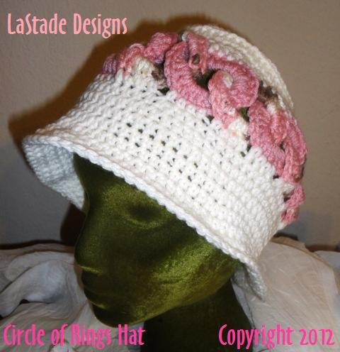 PDF Crochet Pattern Circle of Rings Cloche Hat  Rings are Interlocking around the Hat