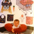 Baby accessories sewing pattern Simplicity 4225 quilt, bib, toy, pillow cover