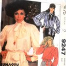 McCall's 9247 Dynasty TV Series Diahann Carroll Misses Blouses Tie Belt Size 6 - 8