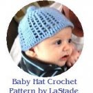 Baby Boy Hat or Baby Girl Hat Crochet Pattern Instructions, easy to make!