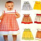 Sewing Pattern Infants Baby Sundress 6 designs New Look 6359 size Newborn 7 lbs to 24 lbs