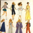 Simplicity 6369 Fashion Doll Sewing Pattern Gown, skating outfit, jumper, overalls