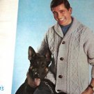 Retro Men's Classic Sweater and Vest 1960's Diamond Yarn Knitting Pattern