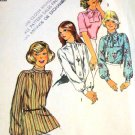 Simplicity Sewing Pattern 6625  Womens' Misses Blouses size 8