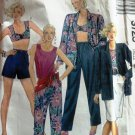 Bra Top, Jacket, capris, shorts, pants, skirt Sewing Pattern McCall's 3723 size 12