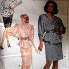 Eighties two piece Dress Sewing Pattern Butterick 5890 sizes 14 16 18