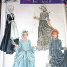 Simplicity 5042 Costume Sewing Pattern Size S M L Child Pilgrim Centennial Prairie 18th 19th Century