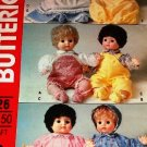 Butterick 226 Baby Doll Clothes UNCUT Sewing Pattern For 16 inch dolls