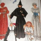 Simplicity Costume Sewing Pattern Misses sm - Lg 9809 Witch, angel, pilgrim, colonial, pilgrim