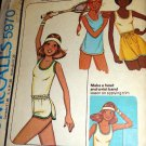 Misses' T-shirt, skirt shorts for stretch knits only Vintage Sewing Pattern McCall's 5970 size 6 - 8