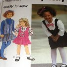 Simplicity Child's Mock Jumper Dress and Headband  Sewing Pattern 8007 size 2 - 4